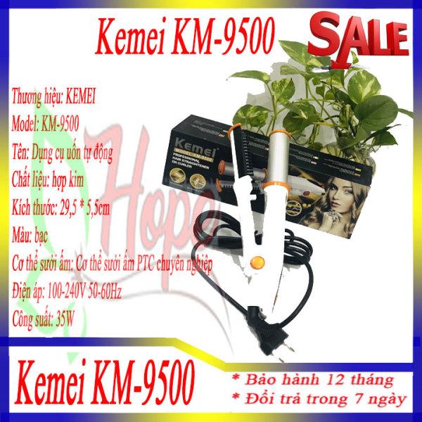 Máy duỗi tóc tự động xoay 360 Kemei KM-9500 có màn hình LCD