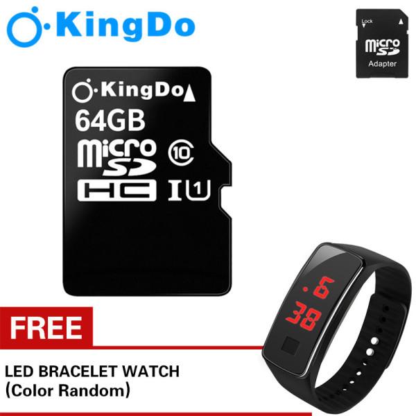 Thẻ nhớ Kingston 64GB tốc độ cao 80MB siêu bền dùng cho điện thoại camera tốc độ cao 80 MB/s, tốc độ ghi 10-30Mb/s Đồng hồ LED miễn phí