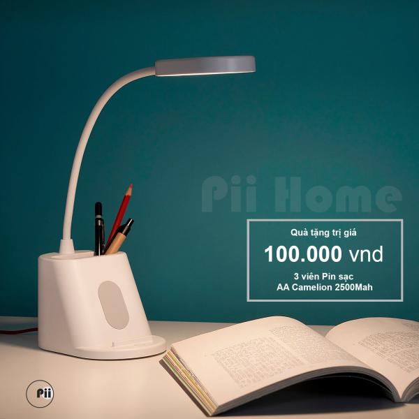 Đèn bàn cảm ứng bóng led 3.2W, đèn dùng pin sạc (TẶNG KÈM 3 VIÊN PIN), 3 chế độ sáng, có khay đựng đồ SPANNLAND IKEA
