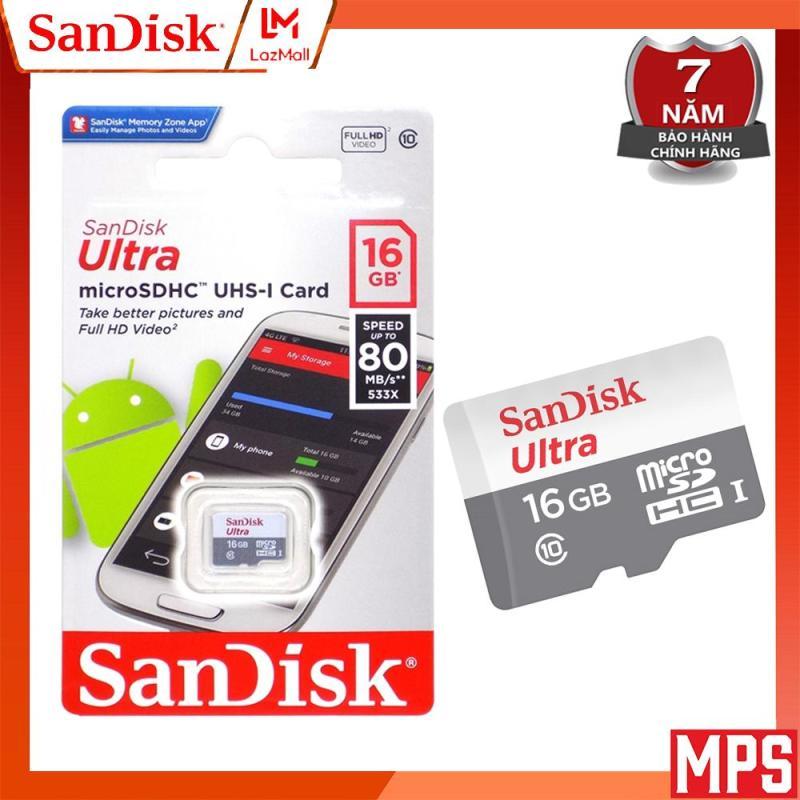 Thẻ Nhớ MicroSDHC SanDisk Ultra 16GB class 10 533x - 80MB/s