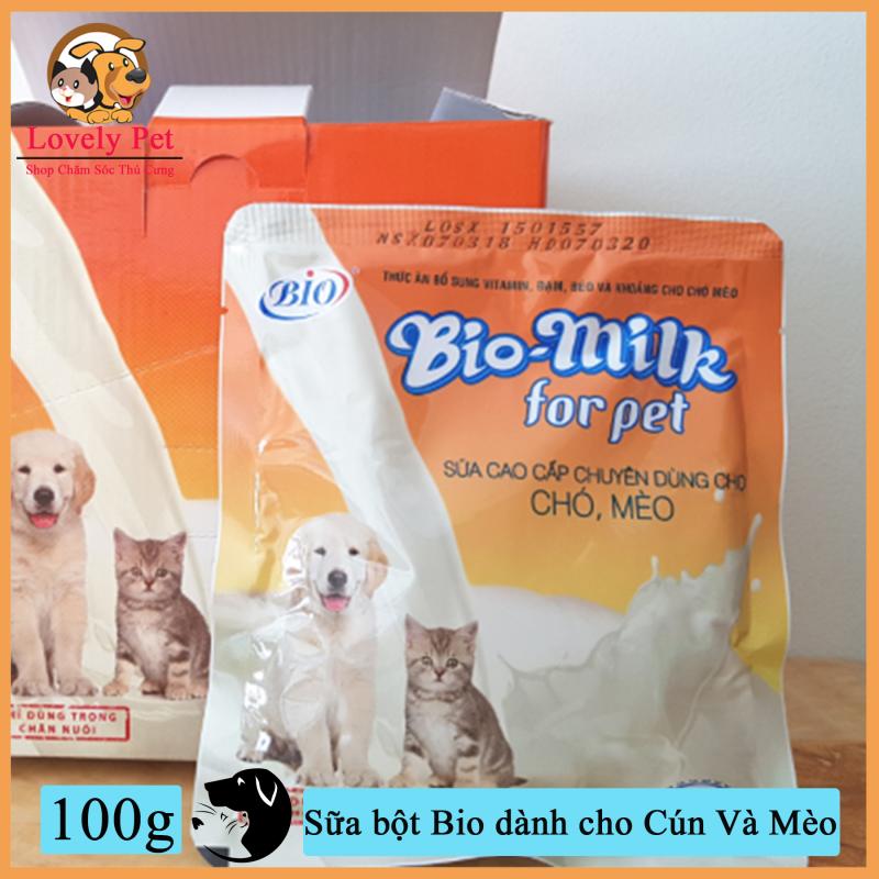 Lovely Pet - Sữa bột Bio 100g dành cho Cún Và Mèo