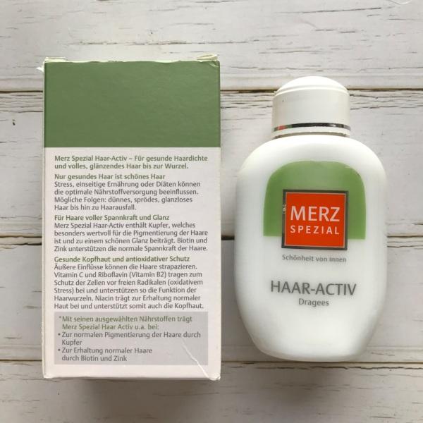 Viên uống mọc tóc  Merz Spezial Haar-Activ (Hàng xách tay Đức) - Loại xanh 100% dành cho tóc. nhập khẩu