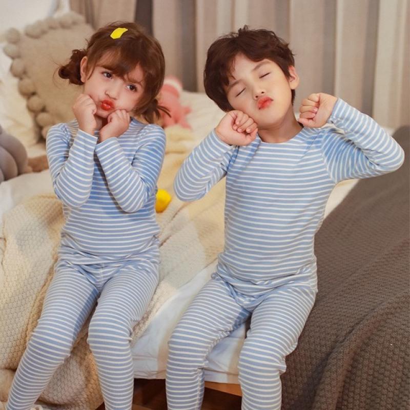 Nơi bán Bộ quần áo mặc ở nhà cho bé trai và bé gái từ 100 – 160cm, bộ đồ cho bé,bộ đồ lót dài tay + quần ngủ