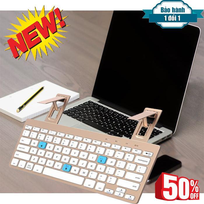 Giá Bàn Phím Bluetooth Cao Cấp, Mua ngay , Bàn phím bluetooth HB191A , Hỗ trợ 2 thiết bị cùng 1 bàn phím , Dễ dàng sử dụng , BH 10 tháng uy tín