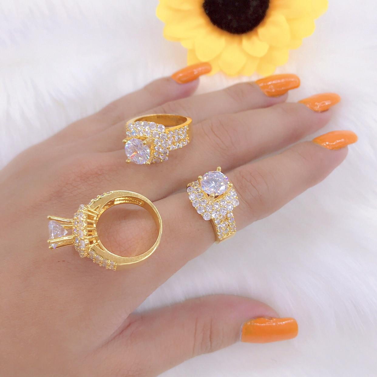 Nhẫn nữ mạ vàng 18k mã 3112