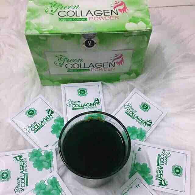 Diệp lục colagen hộp 30 gói nhập khẩu