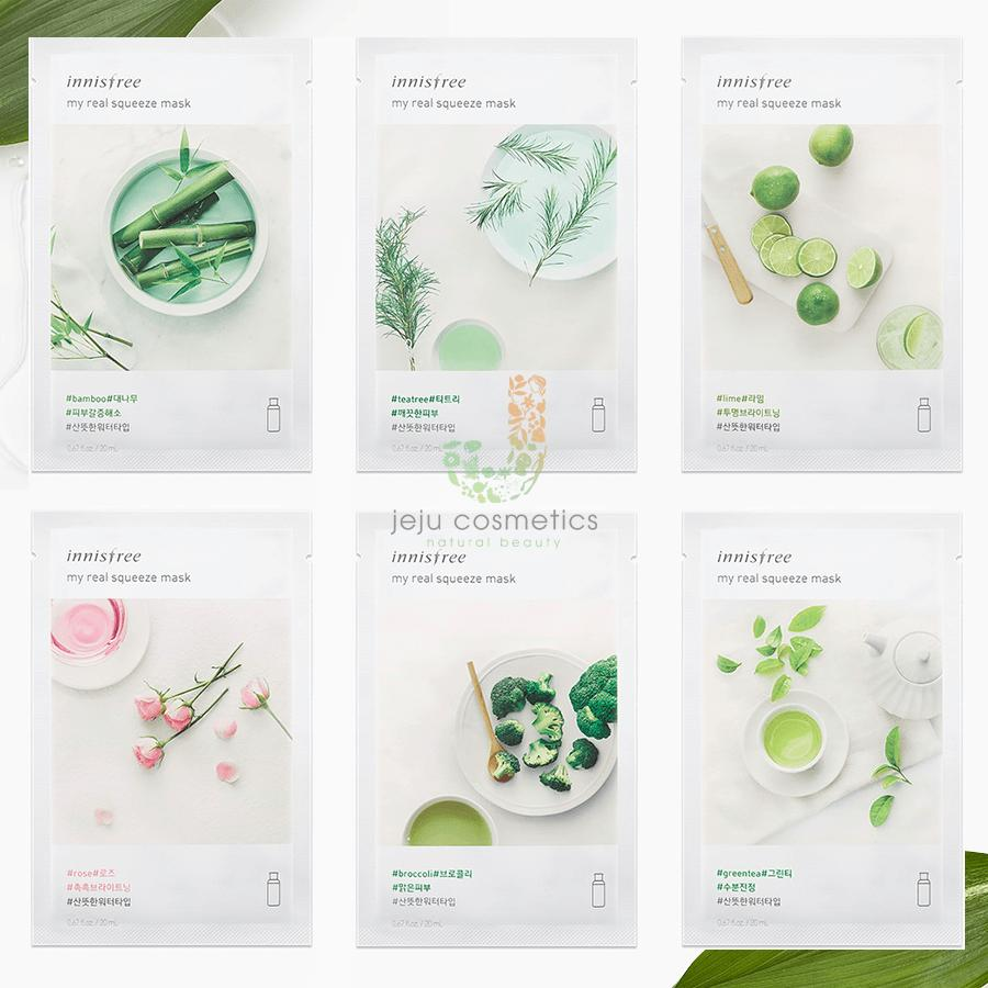 Mặt Nạ Cấp Ẩm Dưỡng Da Innisfree My Real Squeeze Mask
