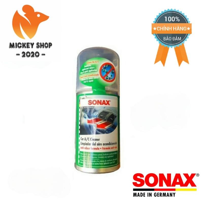 [CAO CẤP] Xịt Diệt Khuẩn Dạng Hơi Tự Động Làm Sạch Khử Mùi SONAX AC Cleaner 323100