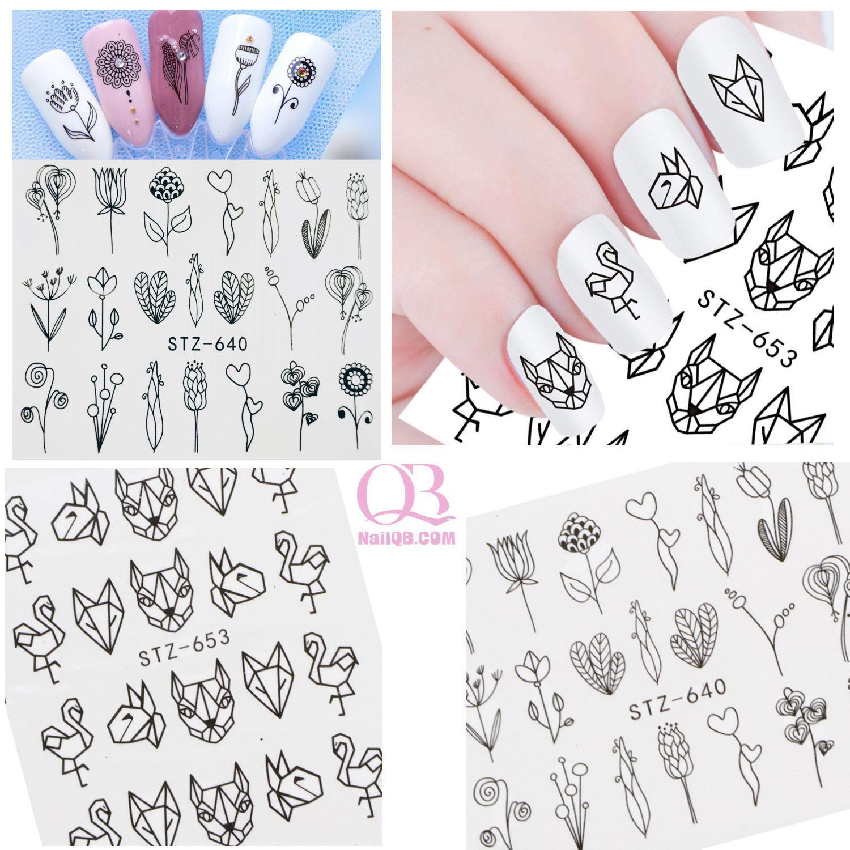 Set 2 tấm nail sticker xăm nước dán móng STZ640-653 tốt nhất