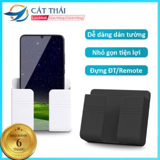 [Mua 2 giảm 10%] Giá đỡ điện thoại dán tường GJ4 giữ điện thoại cố định khi sạc pin, có thể đựng remote tivi máy lạnh, treo cáp sạc, dễ dàng lắp đặt, nhỏ gọn tiện lợi thumbnail