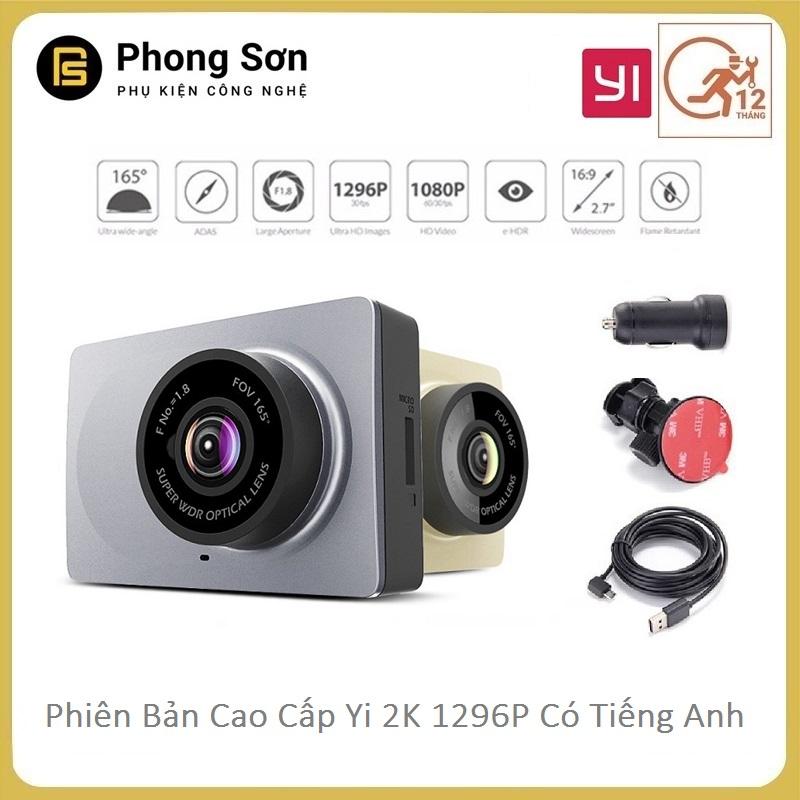 Camera hành trình Xiaomi YI Car Smart Dash Camera 1296p - phiên bản tiếng Anh