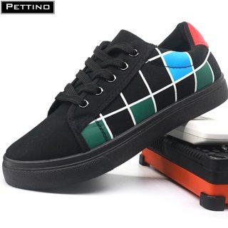 Giày thể thao nam, giày học sinh, giày ca rô buộc dây, cá tính, trẻ trung PETTINO - LLGV05 thumbnail
