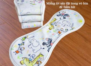 Miếng lót bỉm vải babunature siêu thấm hút size M 3-12kg, size L 9-18kg thumbnail