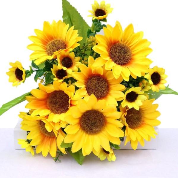 Hoa Giả - Bó Hoa Giả Hướng Dương
