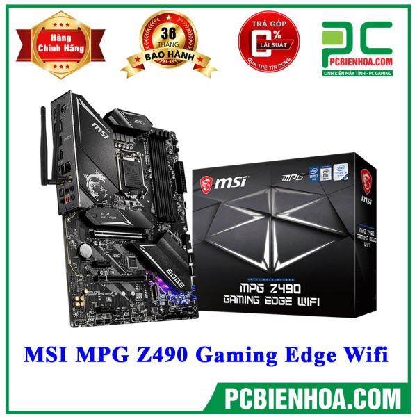 Bảng giá [Trả góp 0%]MAINBOARD BO MẠCH CHỦ MSI MPG Z490 GAMING EDGE WIFI ( LGA1200 / ATX / 4xDDR4 ) Phong Vũ