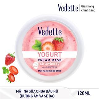 Mặt nạ kem sữa chua dưỡng ẩm mịn màng Dâu Vedette Yogurt Cream Mask - Strawberry 120ml (dạng hũ) thumbnail