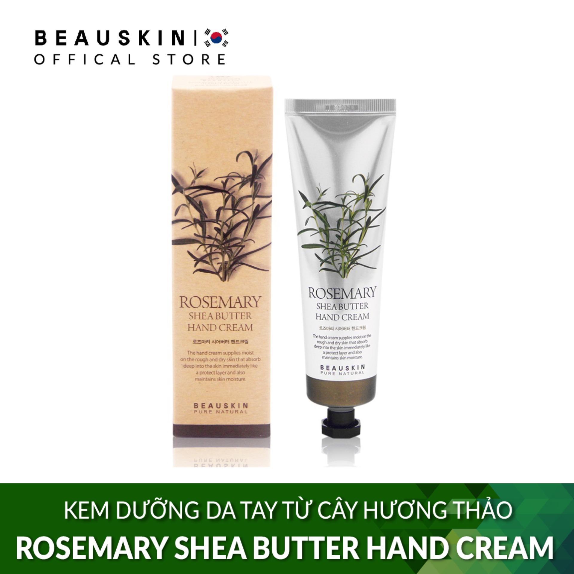 Kem dưỡng da tay từ cây hương thảo Beauskin Rosemary Shea Butter Hand Cream 100ml
