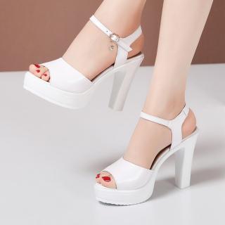 Giày cao gót hở mũi da mềm - CG63 thumbnail
