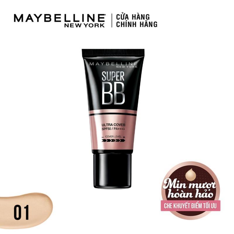 Kem trang điểm siêu mịn bảo vệ da Maybelline New York BB Super cover SPF50/PA++++ 30ml