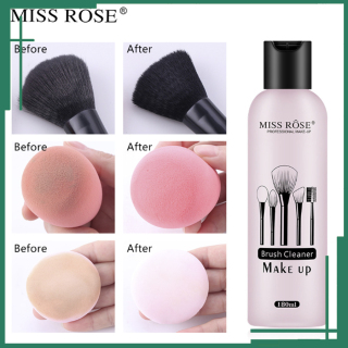 Nước Rửa Cọ Trang Điểm Mút Tán Miss Rose, nước giặt sạch cọ, diệt khuẩn ngăn ngừa mụn ẩn thumbnail