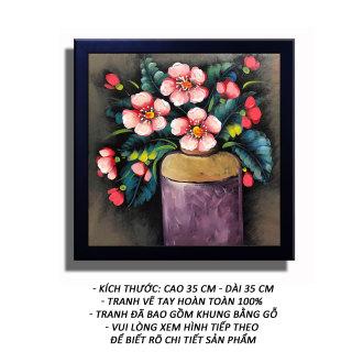 Tranh sơn dầu - Sắc Xuân 01 - Tranh Minh Hiền (Vẽ tay 100% - Khung gỗ) thumbnail