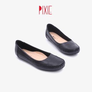 Giày Búp Bê Bệt Da Bò Thật Hoạ Tiết Pixie X666 thumbnail