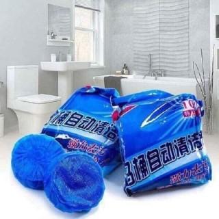 Bộ 10 viên khử tẩy bồn cầu giá rẻ diệt khuẩn khử mùi nhanh - Viên tẩy toilet khử mùi, diệt khuẩn giá rẻ - Viên tẩy bồn cầu cực sạch, cực thơm thumbnail
