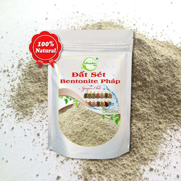 Bột đất sét Bentonite giải độc cho da, trị mụn trứng cá, làm sạch dầu trên tóc Henashop 50gr
