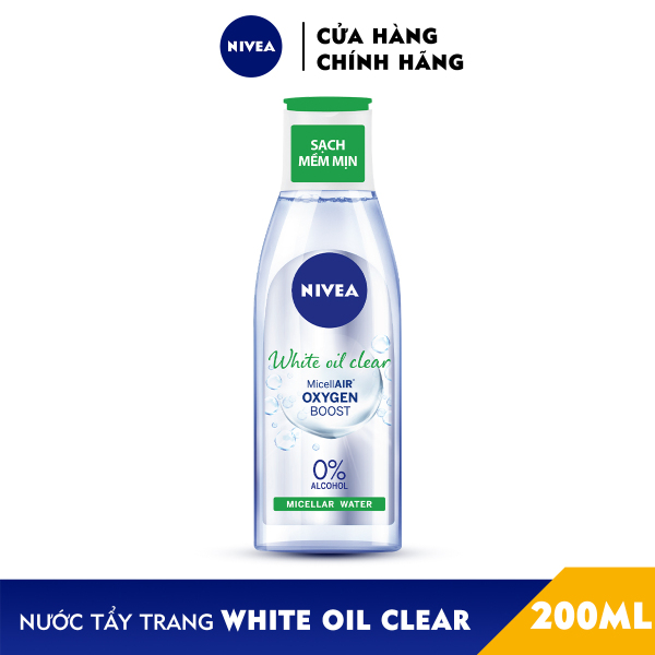 Nước Tẩy Trang NIVEA White Oil Clear Kiểm Soát Nhờn Micellar Water (200ml) - 86609