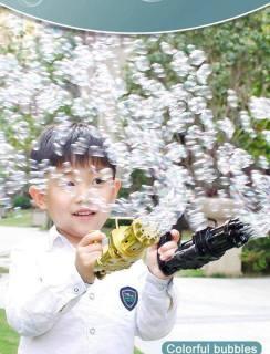 Sung bắn phun thổi Bong Bóng Xà Phòng ngầu 8 nòng đồ chơi ngoài trời cho bé an toàn không lo bẩn tay mới nhất (giao màu ngẫu nhiên) Dũng Dũng 5 2