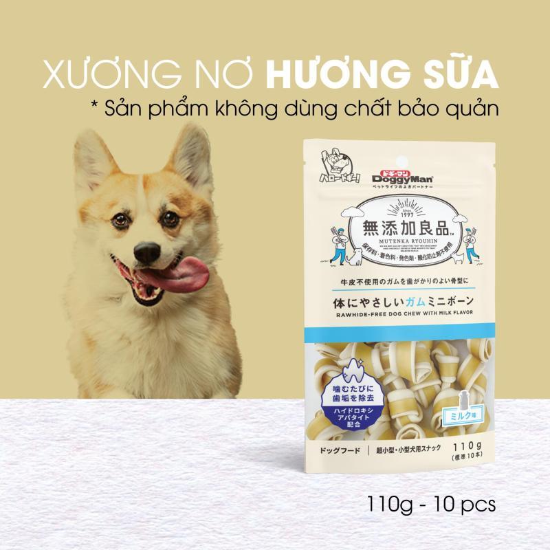 Snack xương nơ hương sữa không chất bảo quản cho chó cưng DoggyMan loại 10 cục - 82398