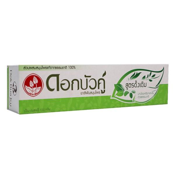 [HCM]Kem Đánh Răng Thảo Dược Thái Lan Twin Lotus Dok Bua Ku Original 100gr