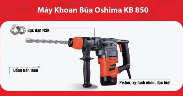 MÁY KHOAN BÚA OSHIMA KB-850 búa