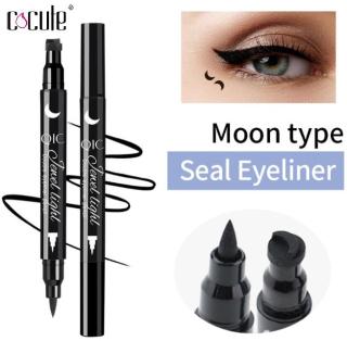 Cocute 1 PC Double Heads Seal Liquid Eyeliner Pen Black Stamp Liner Eye Makeup Tools thumbnail