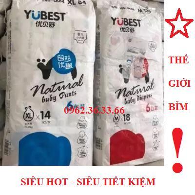 Không Thể Bỏ Qua Giá Hot với Bỉm YuBest Thường (dán) S132 /M108 /L96 /XL84  Miếng