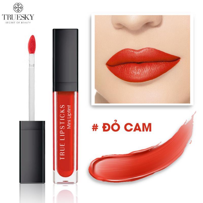 Son kem lì Truesky 5 màu siêu mịn, siêu mướt và lên chuẩn màu - Son kem lì True Lipstick tốt nhất