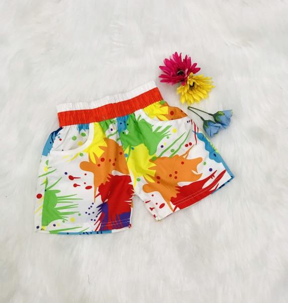 Nơi bán Quần đi biển sắc màu cho  bé từ  3-8 tuổi, vải cotton thoáng mát, thỏa mái