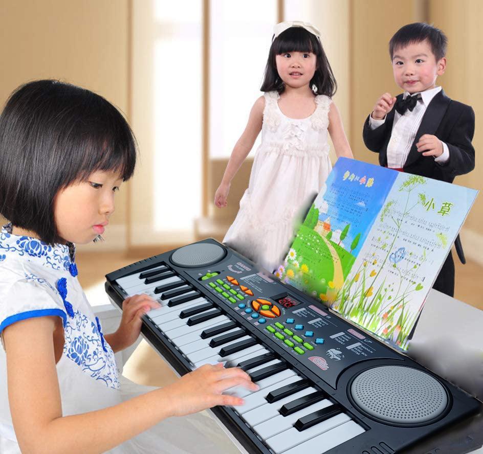 Đàn Organ - Đàn Piano Điện Tử 37 Phím Đa Tính Năng Kèm Míc Hát Cho Bé, làm từ chất liệu cao cấp cùng thiết kế an toàn cho bé thỏa sức vui chơi.