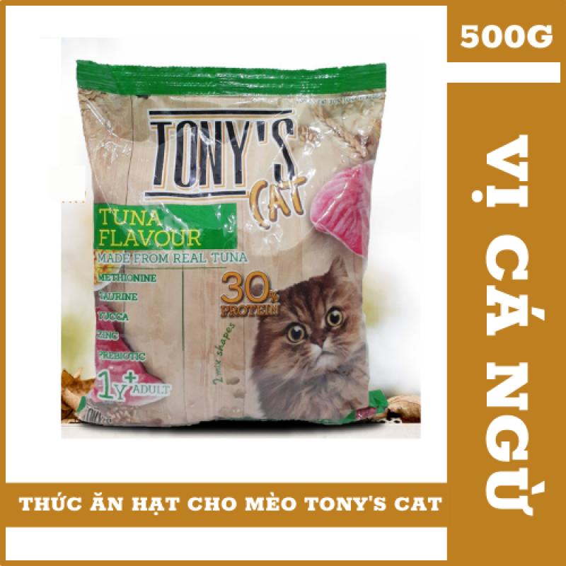 [ Hàng Nhập ] Hạt Tonys Cat Vị Cá Ngừ (500G) Dành Cho Mèo - Kích Thích Mèo Ăn Ngon Miệng, Nhanh Tăng Cân