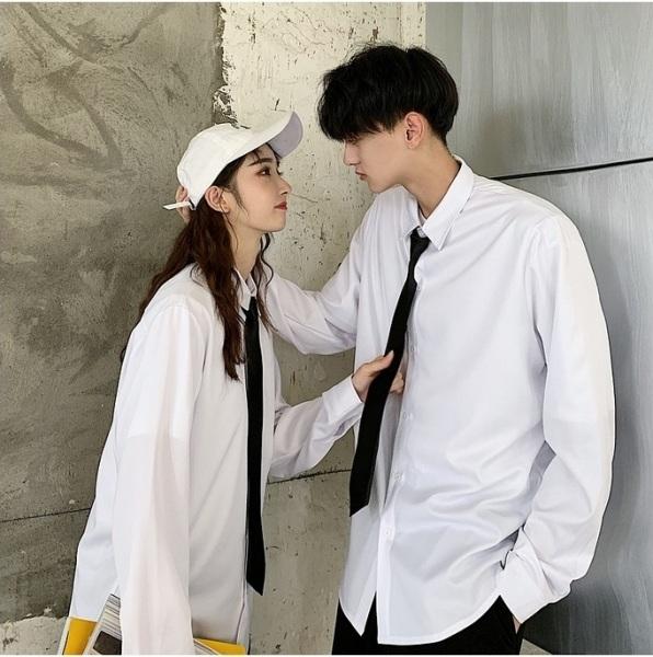 Áo sơ mi cặp đôi nam nữ phong cách, mềm mịn, thoáng mát havichi.com