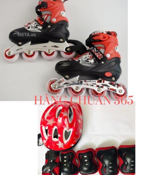 Giá bán [Lấy mã giảm thêm 30%]Combo Giày Trượt Patin Cao Cấp Long Feng 906 - 4 Màu - KÈM BỘ BẢO VỆ( chân tay khuỷu - MŨ )