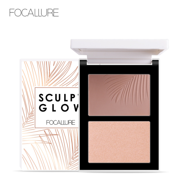 Bảng phấn bắt sáng và tạo khối FOCALLURE 2 trong 1 tiện dụng giúp làm sáng da và nổi bật khuôn mặt - INTL cao cấp