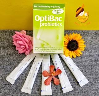 Men vi sinh OptiBac Probiotics xanh Anh 30 gói đặc trị táo bón thumbnail