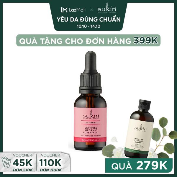 Tinh Dầu Tầm Xuân Sukin Certified Organic Rosehip Oil 25ml