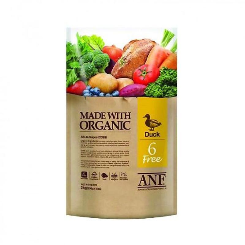 Thức ăn hữu cơ cho chó ANF 6 Free 2kg vị vịt