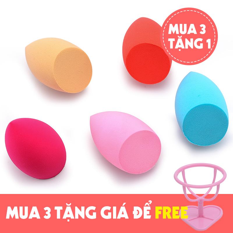 [MUA 3 TẶNG 1] Mút đánh kem nền cao cấp Beauty Egg Sponge - Mút trang điểm, mút tán kem nền siêu mềm mịn, mút tán nền dễ vệ sinh - Lamdepdeal