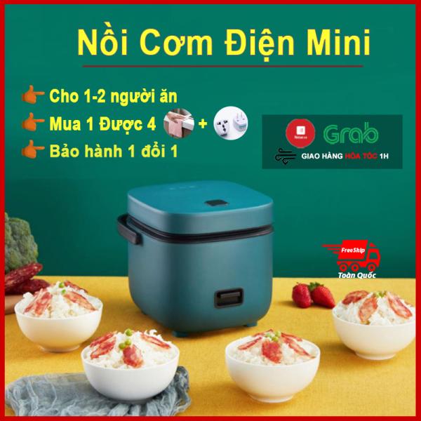 Nồi cơm điện tử mini đa năng giá rẻ JIASHI nấu được 6-8 bát cơm, noi com dien tu mini văn phòng, thích hợp cho đi du lịch, học sinh, sinh viên và gia đình nhỏ 1-3 người ăn - Mua 1 tặng 4.