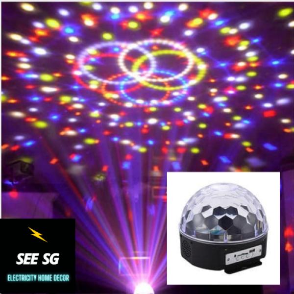 Đèn LED cảm ứng nhạc 7 Màu chiếu vũ trường kết nội Bluetooth, Phát Nhạc Thẻ Nhớ Kèm Remote (Bán lỗ xin đánh giá 5 sao)