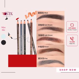 Chì Xé Kẻ Chân Mày Coloured Soft Cosmetic Art Eyebrow Pencil màu nâu đẹp tự nhiên sắc nét-STK Fashion Store thumbnail