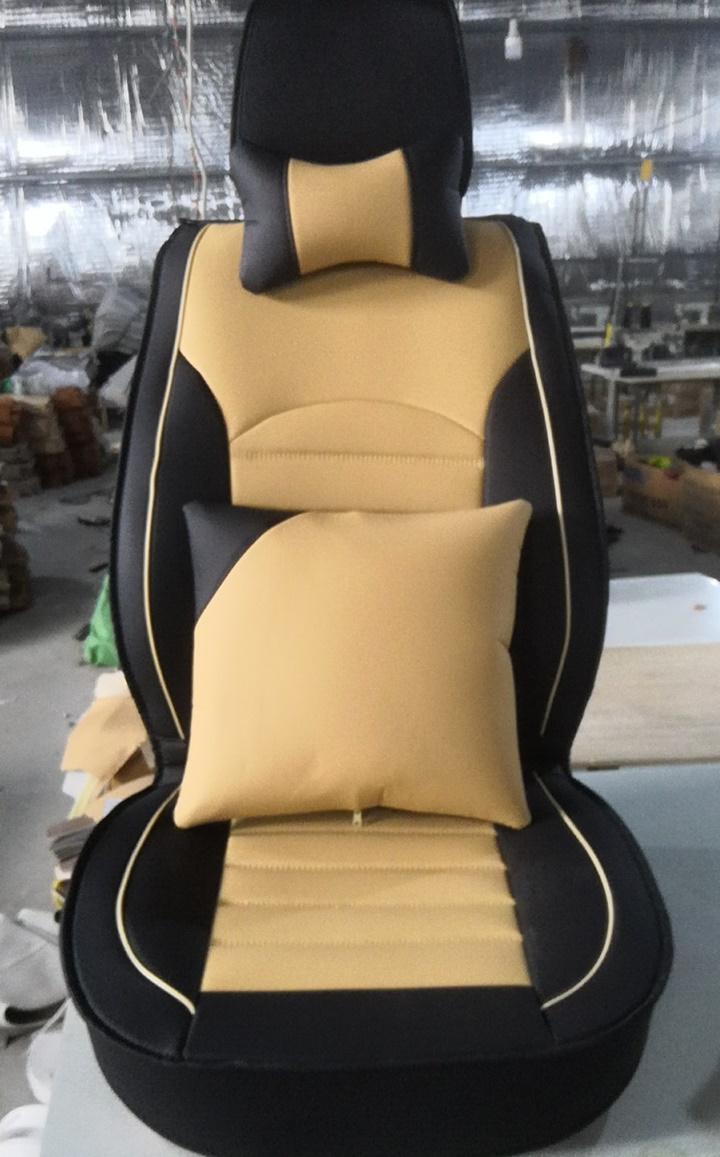 Bộ 5 Áo bọc ghế có 2 gối và 2 tựa lưng DA CAO CẤP 6D Hotaco mềm mịn, dễ vệ sinh